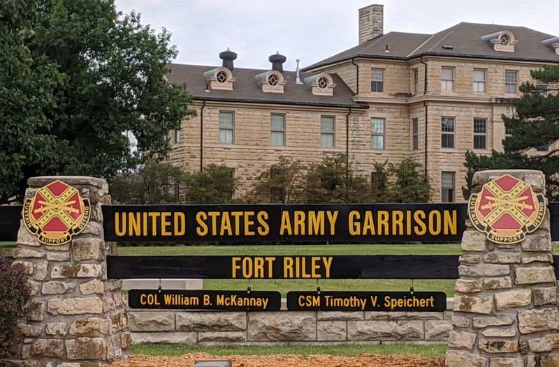 Fort Riley gate