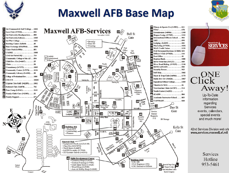 Maxwell AFB map
